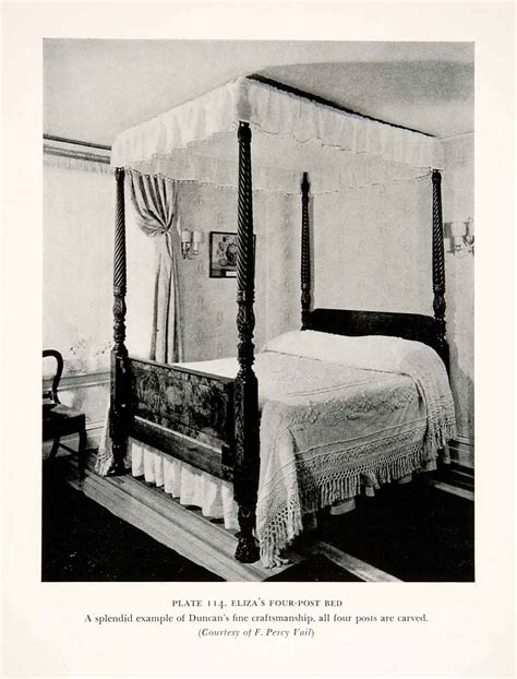 Four Poster Canopy Bed 1939 Print Duncan Phyfe Four Poster Canopy Bed Furniture Maker Carpenter Artisan Ebay