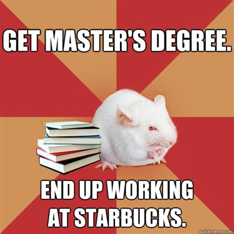 Meme Degree - get master s degree end up working at starbucks