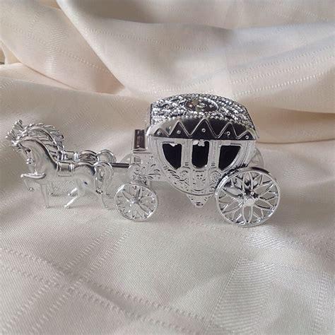 5 Metallic Silver CINDERELLA Wedding Carriage Favors