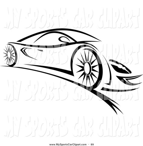 car logo black and white black sports car clipart clipartxtras