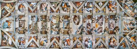 Sistine Chapel Ceiling Layout by A Flattened View Of The Sistine Chapel Ceiling