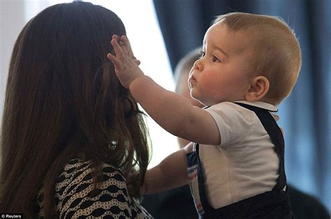 will prince george finally persuade kate middleton to cut hair daily mail