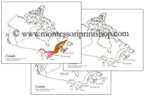 free printable montessori geography materials canadian confederation of 1867 maps printable montessori