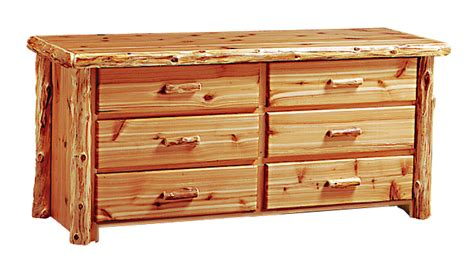 Cedar Dresser by Timberland Cedar Log 6 Drawer Dresser Rustic Furniture