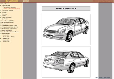 car repair manuals online pdf 2001 lexus gs head up display lexus gs430 300 repair manual of pdf download