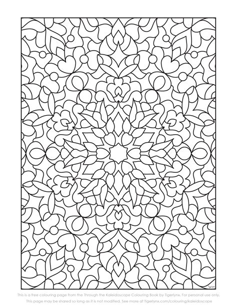 printable coloring pages kaleidoscope free kaleidoscope colouring page