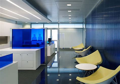 Blue Office Interiors by Inspiration Of New Modern Office Design With Color And