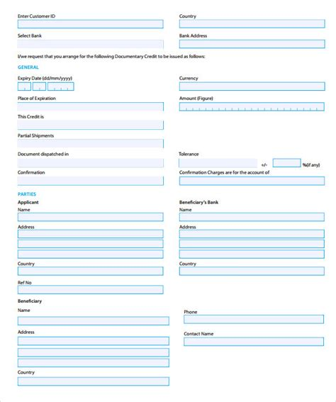 Credit Form Monash Credit Application Forms 9 Documents Free In