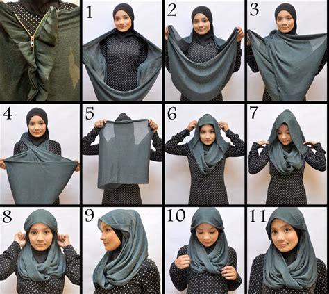 video gambar tutorial cara memakai jilbab modern cara memakai jilbab modern hairstylegalleries com