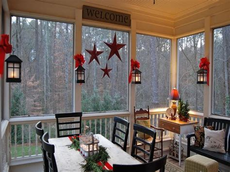 screen porch decorating ideas country christmas porch i would love to do this with our