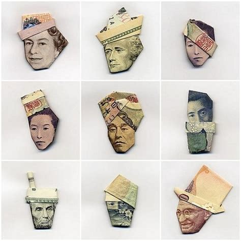 Paper Money Folding - origami boing boing