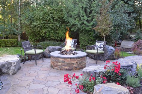 affordable backyard landscaping ideas fire pit patios circular patio with fire pit circular