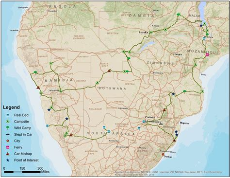 southern africa map road map of southern africa images