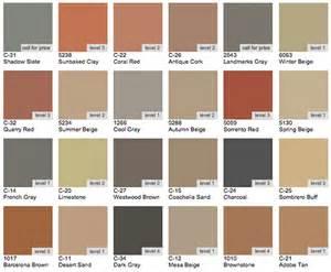 scofield concrete color chart images