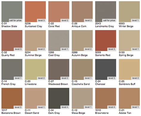 scofield color chart sted concrete brick walkways retaining walls installation