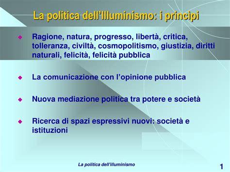 illuminismo politica ppt la politica dell illuminismo i princ 236 pi powerpoint