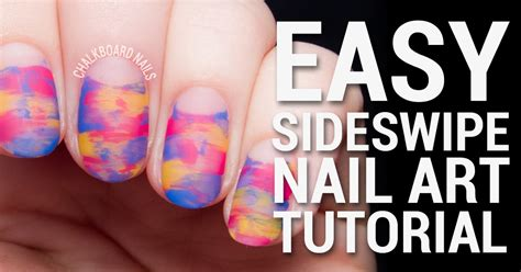 nail art tutorial on pinterest tutorial easy sideswipe nail art with negative space