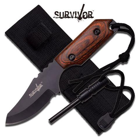 survival knife with firestarter 7 quot survival knife with starter sheath
