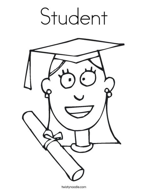 graduation girl coloring page student coloring page twisty noodle