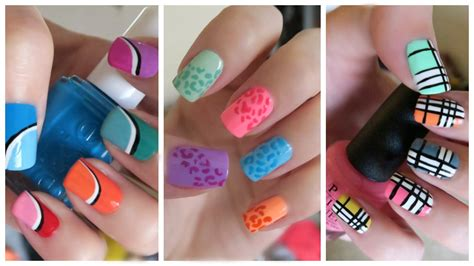 nail art tutorial missjenfabulous summer nail art three colorful designs