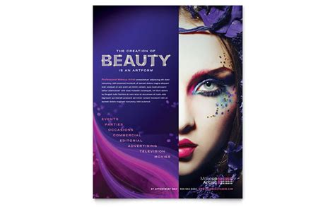 templates for beauty flyers makeup artist flyer template design