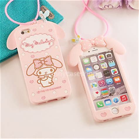 3d pink my melody rabbit silicone soft cover for iphone 7 plus 6 6s 5s ebay