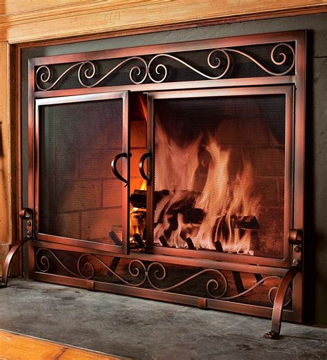choosing fireplace doors screen