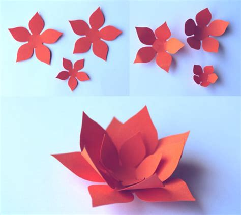 How To Make Colored Paper Flowers - paper flowers classroom craft activity easy make paper