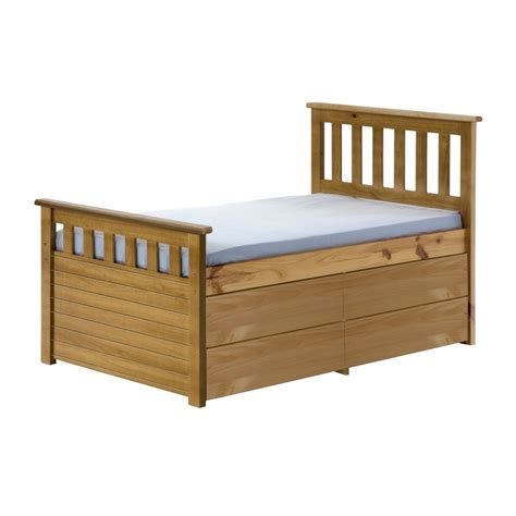 captains bed with storage ferrara storage captain s bed with drawers and cupboard
