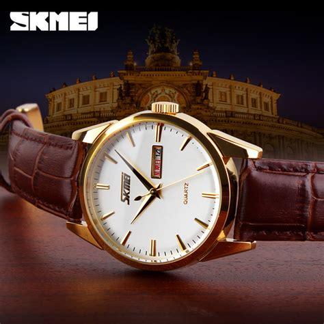 Jam Tangan Pria Skmei Casual Leather Jam T Berkualitas skmei jam tangan analog pria 9073cl white silver jakartanotebook