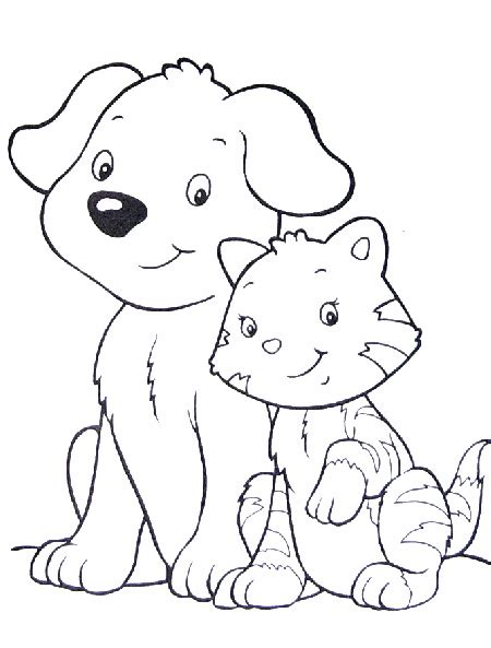coloring pictures dogs cats catdog 999 coloring pages cat dog coloring pages cat dog
