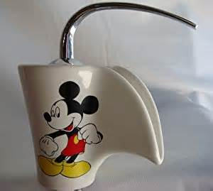 mickey mouse vessel sink filler glass chrome faucet g4