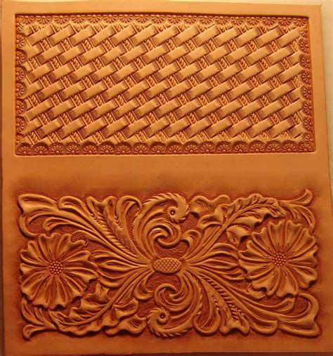 Leather Roper Wallet Pattern | roper wallet transfer sheet leather carving pinterest