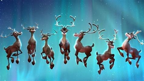best art of santa and eight teindeer all of santa s reindeer ranked from best to worst entertainment tonight