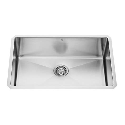 Vigo Kitchen Sinks Shop Vigo 30 In X 19 In Stainless Steel Single Basin Undermount Commercial Kitchen Sink At Lowes
