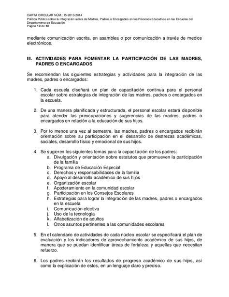 Carta Circular 15 2013 2014 Padres O Encargados | carta circular 15 2013 2014 padres o encargados