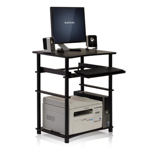 Llytech Inc Home Laptop Espresso Computer Desk With Laptop Desk