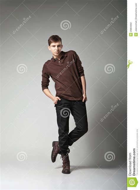 Dress Model Casual Simple Style Gray Black Impor fashion model posing in casual stock photo image 29864992