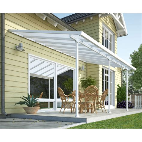 Porch Awnings Lowes by Palram Canada Feria 10 Ft X 24 Ft Patio Cover Lowe S Canada