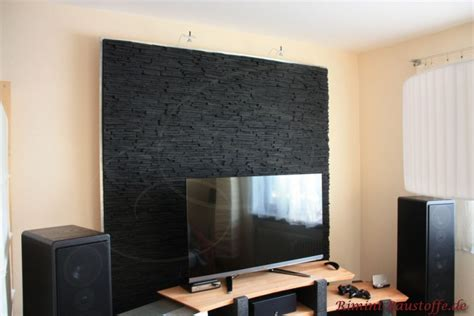 moderne wohnzimmergestaltung paneele avantgarde optik alpes farbe ardoise bilder
