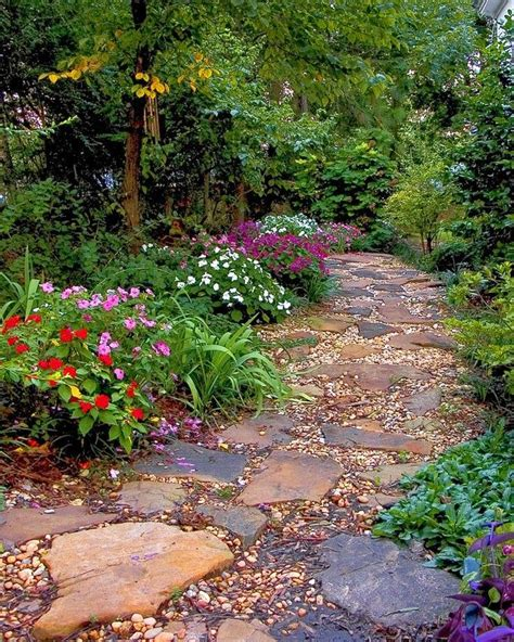 backyard pathways beautiful stone path rustic looking garden and outdoor