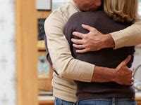 comforting hug low back pain how one couple works together to conquer