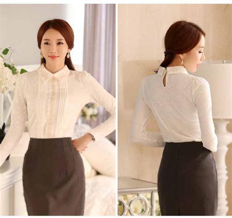 Baju Atasan Wanita Murah Atasan Korea Import Louise Top baju atasan wanita korea terbaru 2017 model terbaru jual murah import kerja