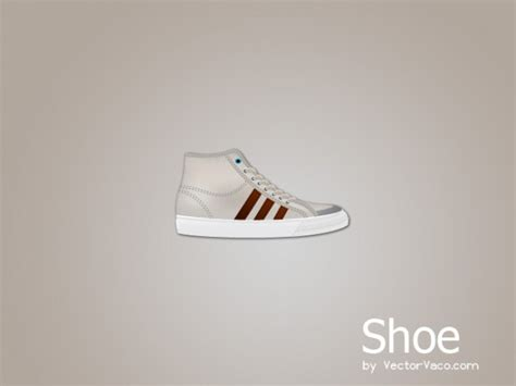branded canvas shoe vector free