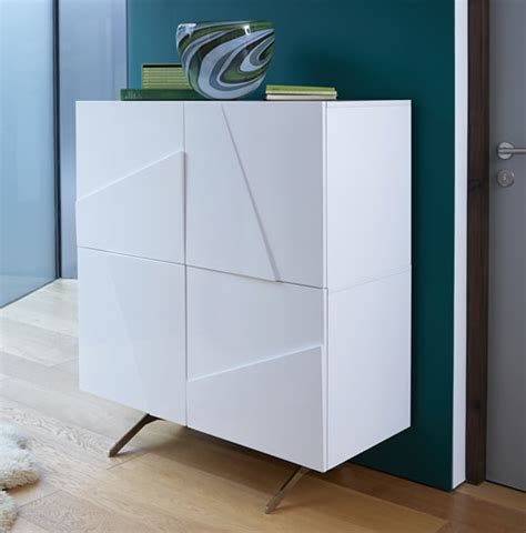 store high gloss tall sideboard glacier