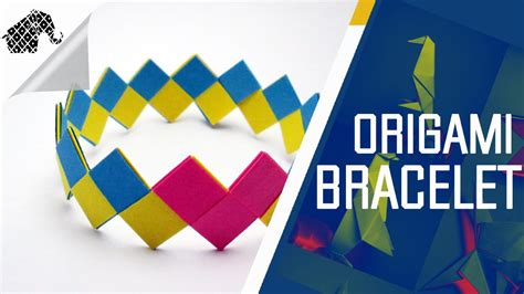 How To Make A Paper Wristband - origami how to make an origami bracelet armband
