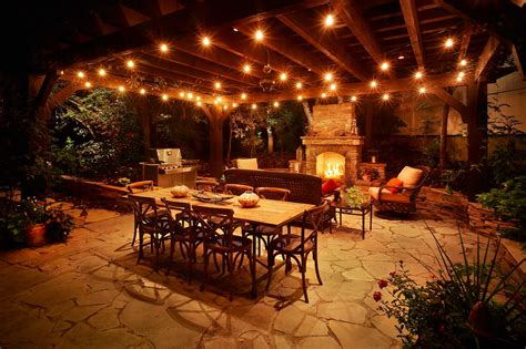 Patio With Lights Patio Pergola And Deck Lighting Ideas And Pictures