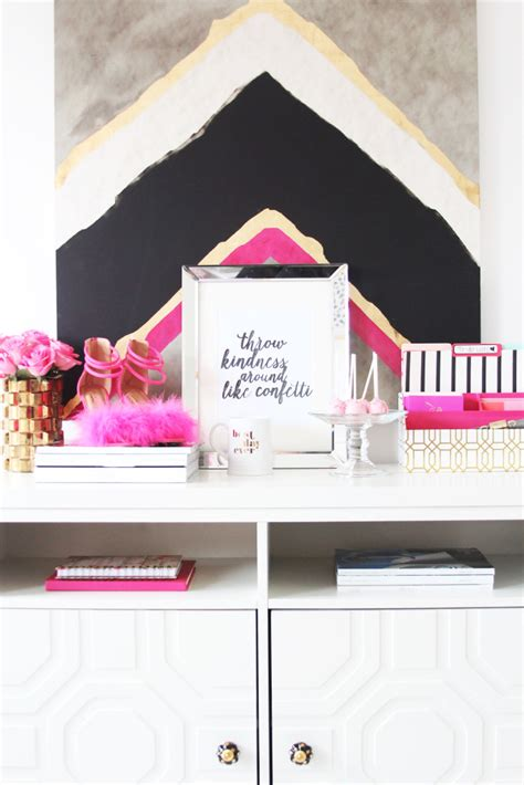 girly home decor meagan ward s girly chic home office office tour sayeh pezeshki la brand logo and web