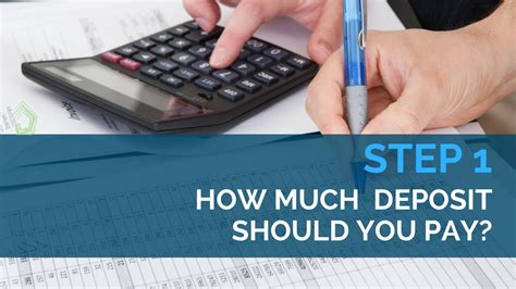 How Do You Pay Your Mba Deposit by How Much Deposit Should You Pay Your Builder Step 1 In