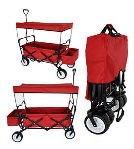 Canopy Wagon by Outdoor Folding Wagon Canopy Garden Utility Travel Cart